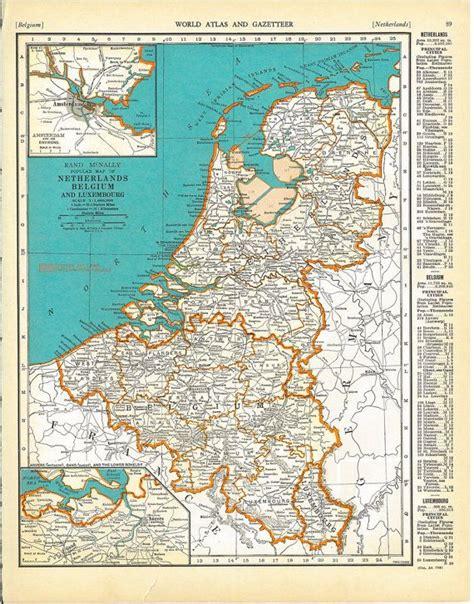 map belgium netherlands vintage map of netherlands belgium