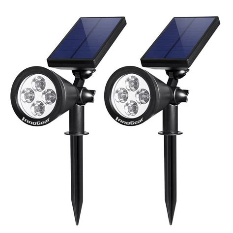 innogear solar lights spotlight outdoor landscape lighting