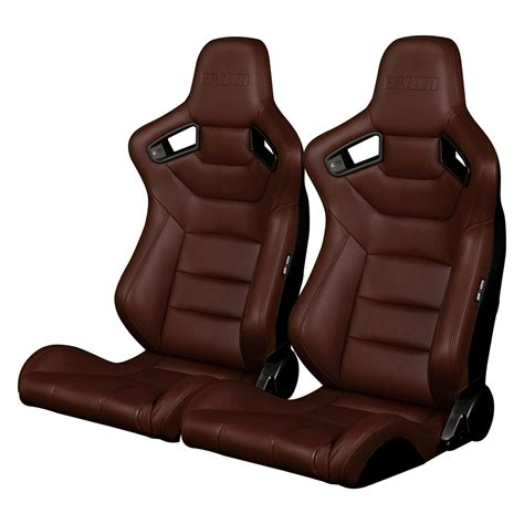 leatherette seat upholstery braum 174 brr1 cpbs elite series sport seats brown leatherette