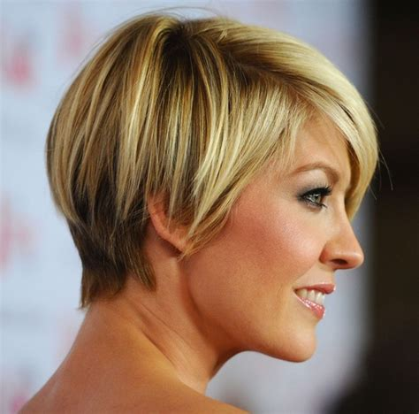 does jenna elfmans hair look better long or short daily hairstyle jenna elfman short haircut chic short