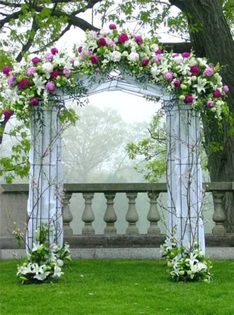Wedding Arch Flowers Arrangements by Altar Arch Arrangements Blossoming Branches Chuppah