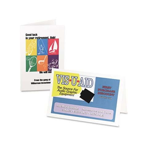avery 174 half fold greeting cards inkjet 5 1 2 x 8 1 2 matte white 30 box w envelopes ave8316