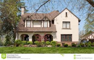 english tudor style home stock photo image 40249506