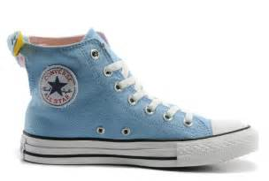 converse all light blue bowknot