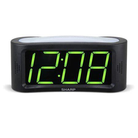 sharp 1 8 quot led green display alarm clock walmart