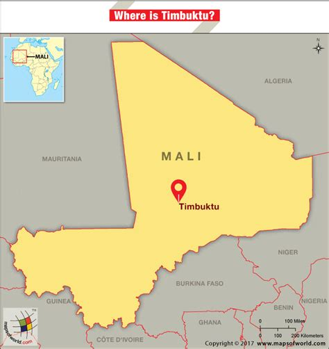 timbuktu map where is timbuktu answers