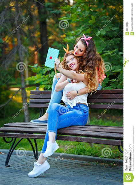 best hugs best friends hug photos in park selfies stock