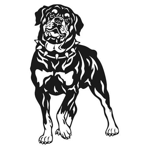 rottweiler dog cuttable design  cuttablesvg  etsy