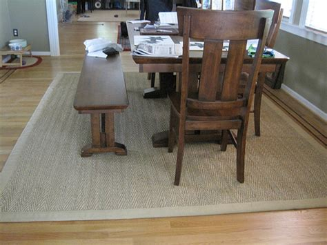 rug table dining table rugs dining table size