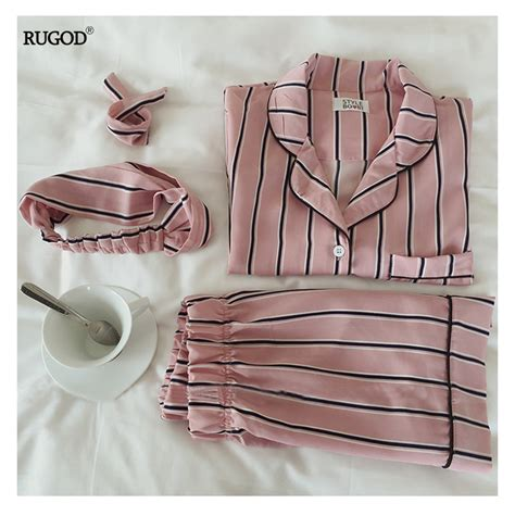 New Arifal Set Overall Sweety aliexpress buy 2018 new arrivals pajamas set sweet stripes sleepwear 2 two set