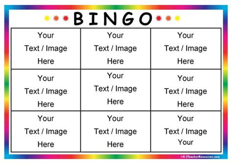 bingo cards templates editable bingo card templates