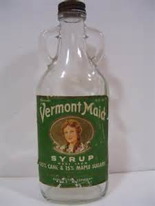 vermont maid syrup bottle double handle 1948