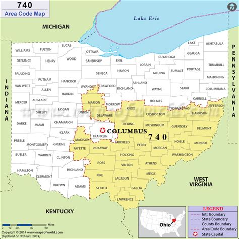 what us area code is 440 740 area code map where is 740 area code in ohio