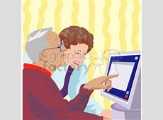 seniors trying to work the computer clipart. Royalty-free ... Girl Soccer Silhouette Clip Art