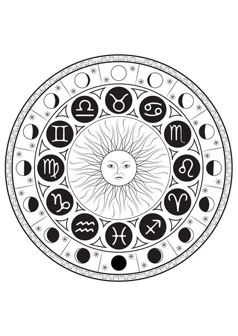 zodiac mandala coloring pages astrological signs mandala by louise mandalas coloring