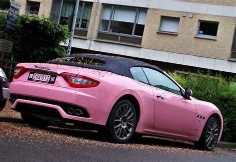 maserati pink the pink maserati grancabrio is for a