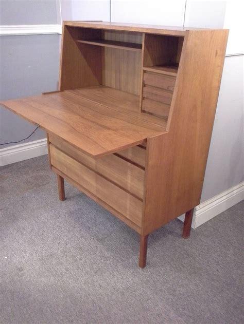 Mid Century Arne Vodder Style Teak Drop Front Desk Made Drop Front Desk