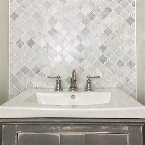 mosaic marble backsplash we are in with the hton carrara marble arabesque