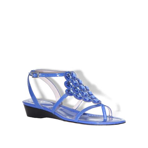 vince camuto blue shoes vince camuto isadorra wedge sandals in blue dazzle blue