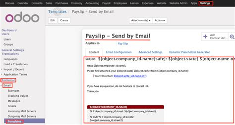 Send Payslips By Email Odoo Apps Send Email Template