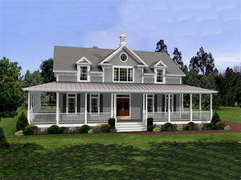 southern style homes with wrap around porch exterior