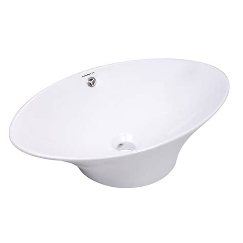 porcelain or ceramic for bathroom aquaterior porcelain ceramic bathroom vessel sink basin w