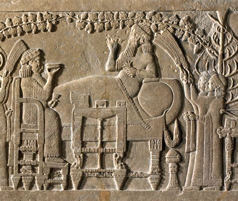Cing Treille ancient replicas relief of king ashurbanipal reposing