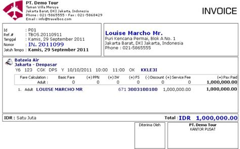 contoh invoice joy studio design gallery best design