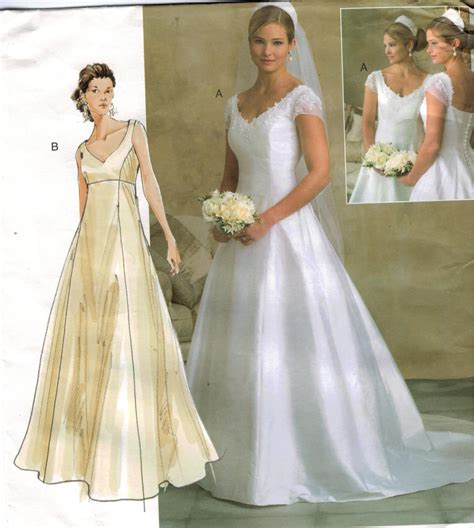 Wedding Gown Patterns vogue wedding gown sewing patterns junoir bridesmaid dresses
