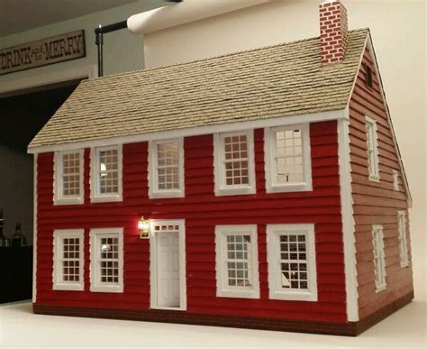 dollhouse electrical custom wood handcrafted new saltbox colonial