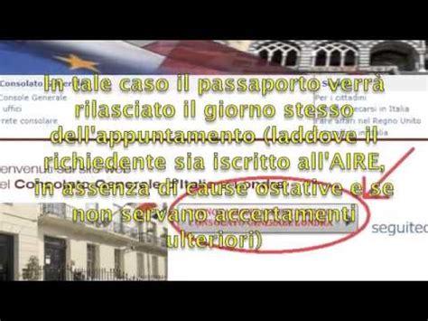 consolato italiano londra passaporti prenotazione appuntamento passaporti
