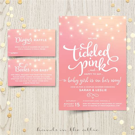 Shower Invitations Baby by Tickled Pink Baby Shower Invitation Printable Stationery