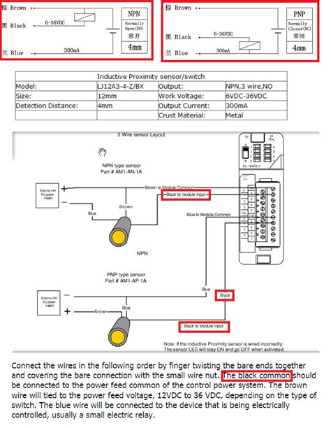 Alarm Pnp 2wire pnp prox wiring diagram with description