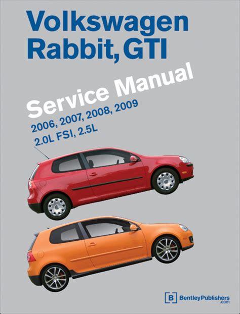 online car repair manuals free 2006 volkswagen rabbit interior lighting front cover volkswagen rabbit gti a5 repair manual 2006 2009 bentley publishers repair