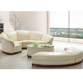 leather half moon shaped sofa shape sofa in white leather assembled