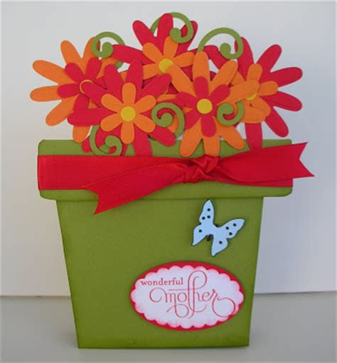 Potted Flower Pot Card Flowers Templates by Crafting With Princess Standing Flower Pot Gift Card