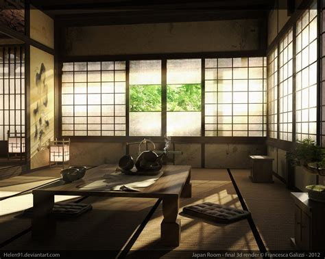 japanese room japan room final 3d render by goophou on deviantart