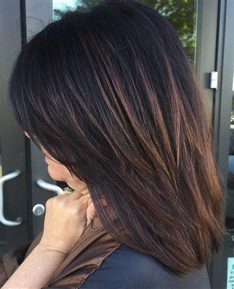 medium length hairstyles brown with a partial highlights layered haircuts brown hair with highlights and hair with