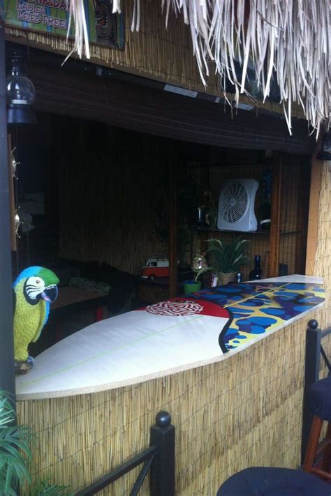 tiki bar top homemade surfboard bar top tiki bar pinterest