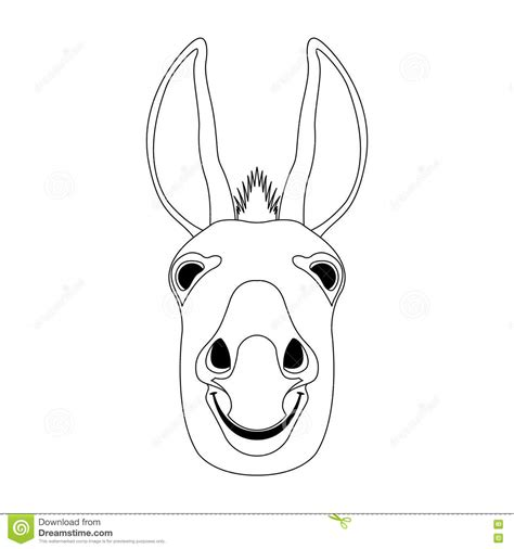 donkey head coloring page donkey head vector coloring book stock vector image