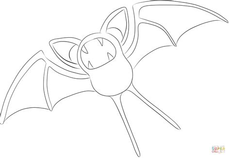 pokemon zubat coloring pages zubat coloring page free printable coloring pages