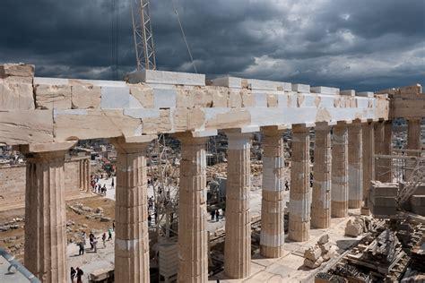 Parthenon Cornice 4 Logic Acropolis Restoretion Parthenon ιnterventions