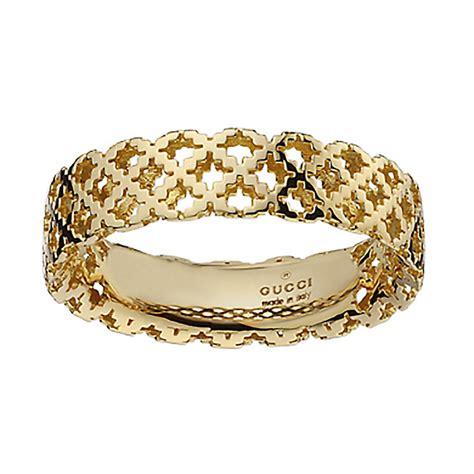 gucci diamantissima 18ct gold ring size m ernest jones
