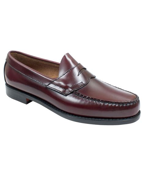 bass shoes loafers lyst g h bass co logan weejuns flat