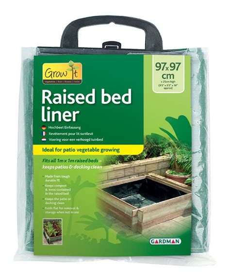 Garden Bed Liner by Gardman Raised Bed Liner For Grow Herb Vegetable Planter Garden 1m X 1m H25cm Ebay