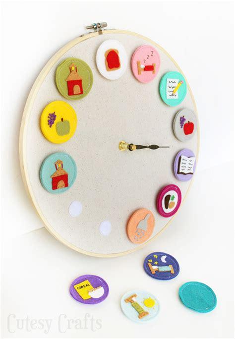 clock craft for diy clock for cutesy crafts