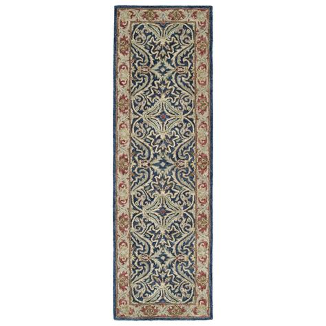 8 foot runner rug kaleen solomon tyre blue 2 ft 6 in x 8 ft rug runner 4050 17 2 6 x 8 the home depot