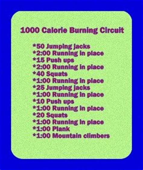 1000 calorie burning circuit exercise