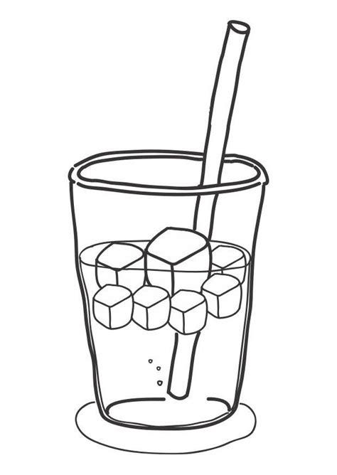 dibujos de bebidas para colorear dibujo para colorear cubitos de hielo en bebida img 30280