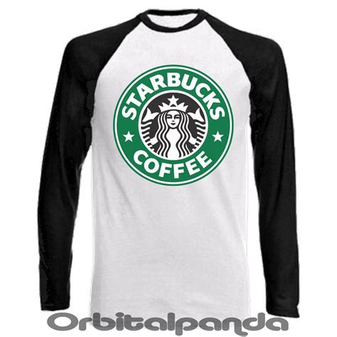 sleeve baseball t shirt starbucks coffee design logo ebay